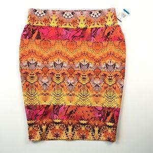 Thalia Sodi Women's Print Skirt XL C0716